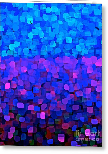 Blueberry Passion Fruit Greeting Card by Saundra Myles
