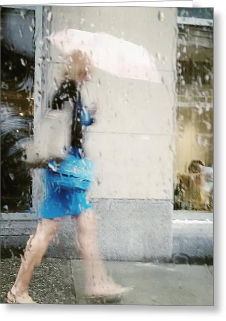 Blueberry Rain Drops Greeting Card