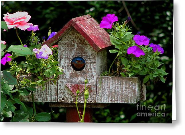Bluebird House Greeting Card