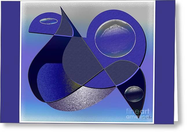 Greeting Card featuring the digital art Bluebird by Iris Gelbart
