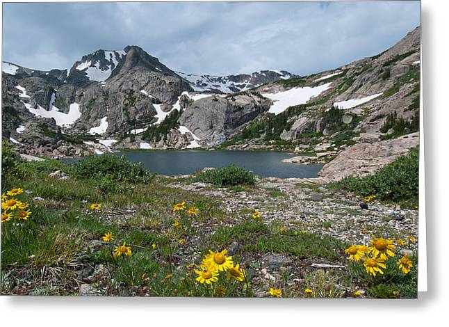 Greeting Card featuring the photograph Bluebird Lake - Colorado by Cascade Colors