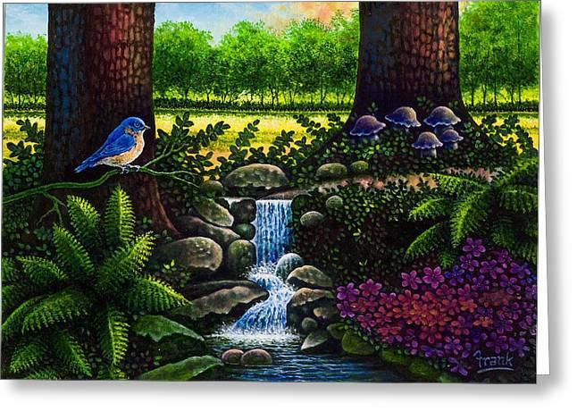 Bluebird Greeting Card by Michael Frank