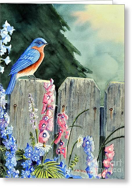 Bluebird Morning Greeting Card