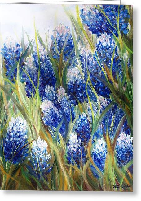 Bluebonnet Barrage  Greeting Card by Patti Gordon