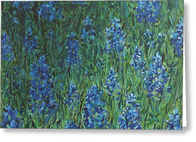 Bluebonnet Square Greeting Card by Molly Benson