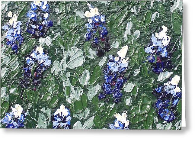 Bluebonnets Greeting Card by Melissa Torres