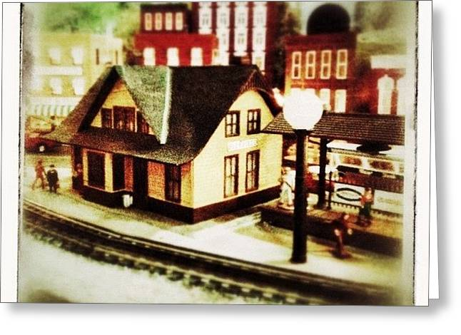 Bluefield Train Station In Miniature At Greeting Card