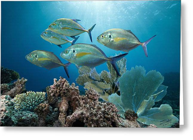 Bluefin Trevally Greeting Card