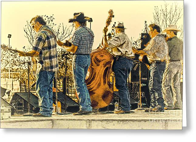 Bluegrass Evening Greeting Card by Robert Frederick