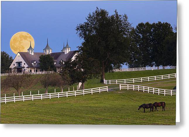 Bluegrass Moonrise Greeting Card