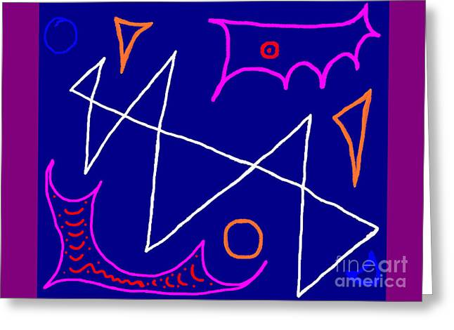 Bluelight Greeting Card by Meenal C