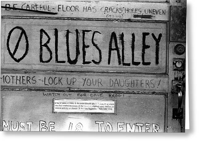 Blues Alley Greeting Card
