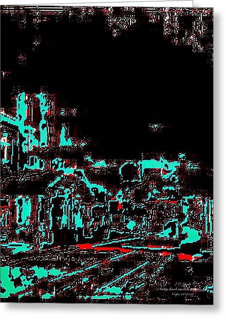 Blood Alley Greeting Card by Larry E Lamb