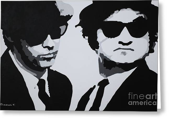 Blues Brothers Greeting Card by Katharina Filus