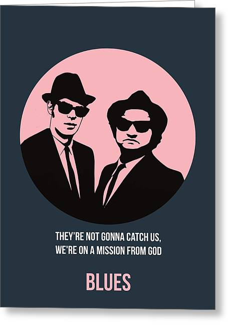 Blues Brothers Poster 1 Greeting Card by Naxart Studio
