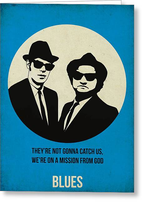 Blues Brothers Poster Greeting Card by Naxart Studio