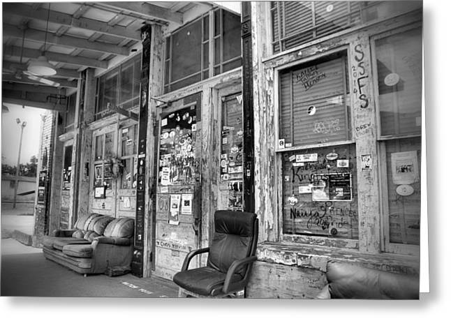 Blues Club In Black And White Greeting Card