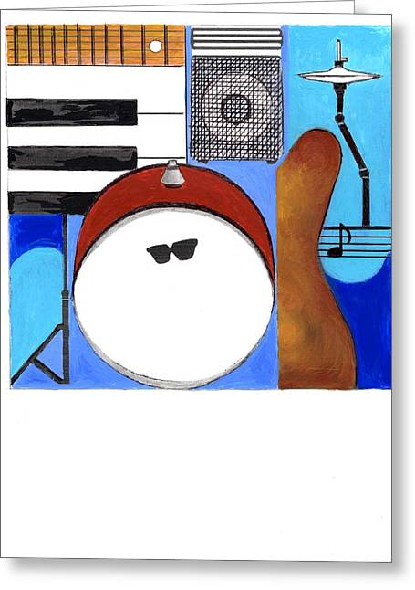 Blues Concept 1 Greeting Card