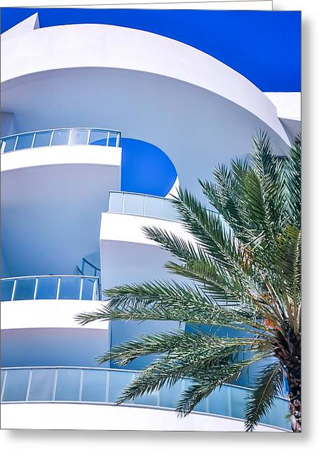 Blues Of Miami Greeting Card by Karen Wiles