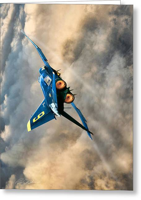 Blues Power Vertical Greeting Card