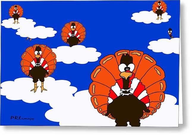 Bluesky Turkeys Greeting Card