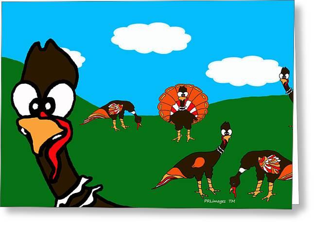 Blueskyfarm Turkeys Greeting Card