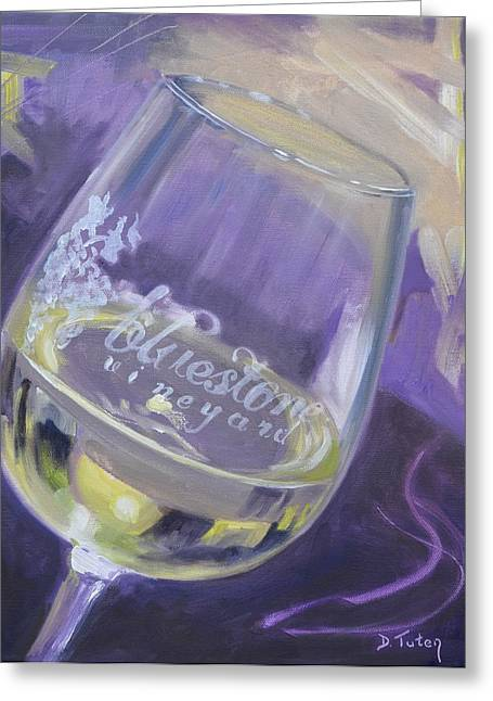 Bluestone Vineyard Wineglass Greeting Card