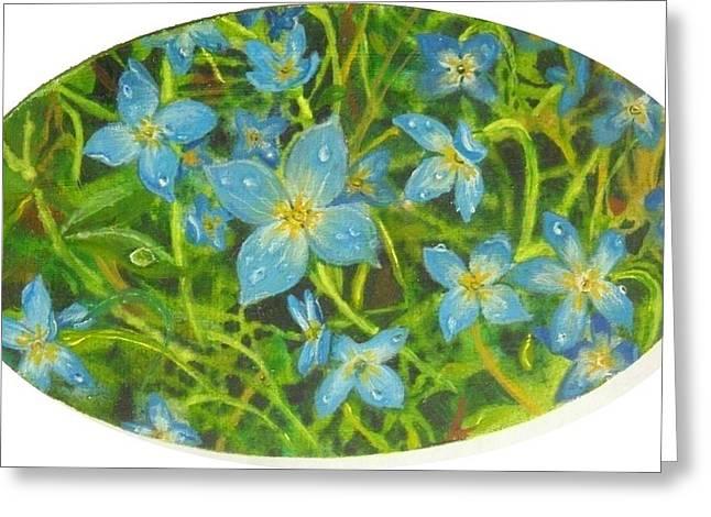 Bluets Of The Shenandoah  Greeting Card