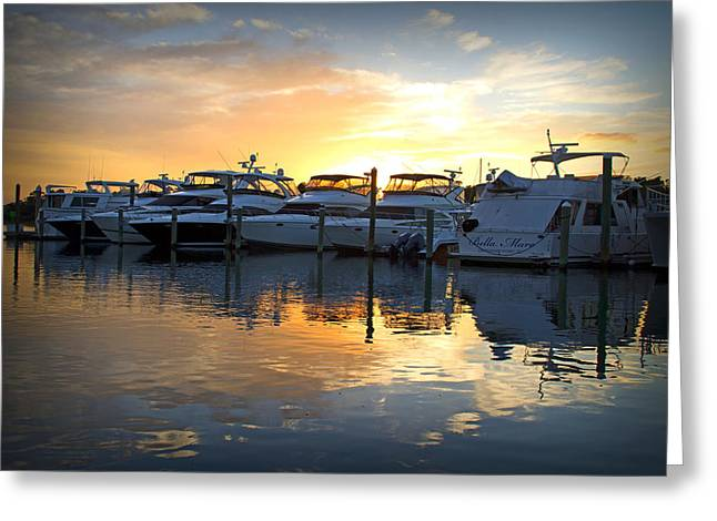 Bluewater Sunset Greeting Card