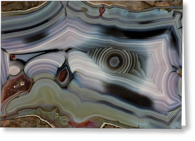 Bluish Baker Egg, Thunderegg, New Mexico Greeting Card