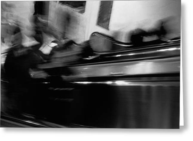 Blurred Motion, People, Grand Central Greeting Card by Panoramic Images