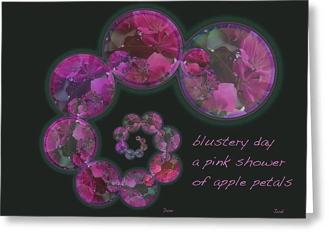 Blustery Day Haiga Greeting Card by Judi and Don Hall