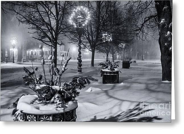 Blustery Winter Night Greeting Card