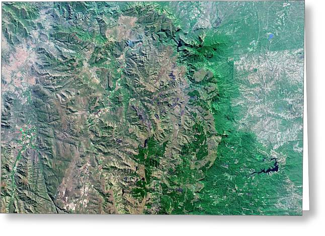 Blyde River Canyon Greeting Card by Us Geological Survey