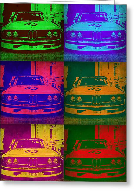 Bmw 2002 Front Pop Art 1 Greeting Card