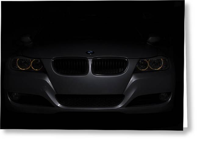 Bmw Car In Black Background Greeting Card
