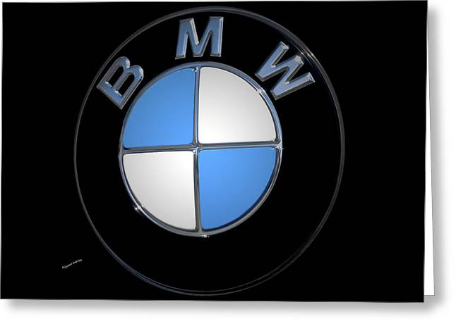Bmw Emblem Greeting Card by DigiArt Diaries by Vicky B Fuller