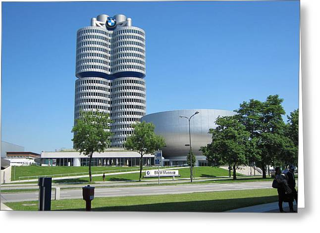 Greeting Card featuring the photograph Bmw Head Quaters by Pema Hou