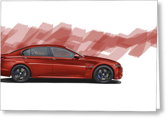 Bmw M5 Fantasy Greeting Card by Roger Lighterness