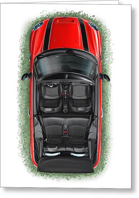 bmw mini cooper s cabrio red digital art by david kyte. Black Bedroom Furniture Sets. Home Design Ideas