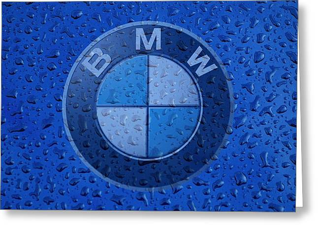 B M W Rainy Window Visual Art Greeting Card by Movie Poster Prints
