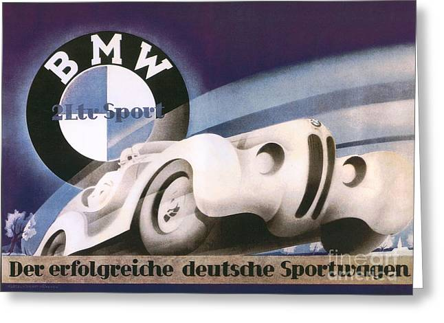 Bmw  Sports Car Poster  Greeting Card by Pg Reproductions