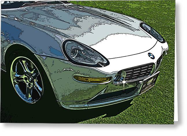 Bmw Z8 Nose Study Greeting Card by Samuel Sheats