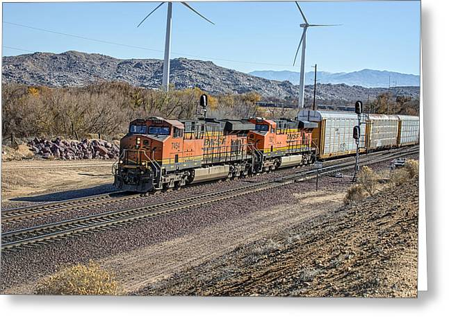 Bnsf 7454 Greeting Card