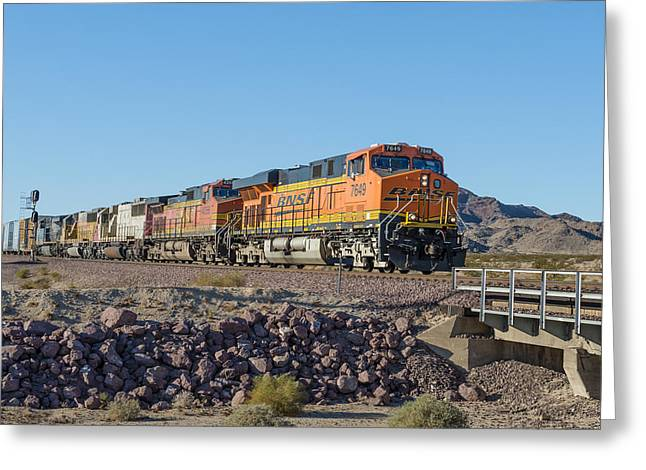 Bnsf 7649 Greeting Card