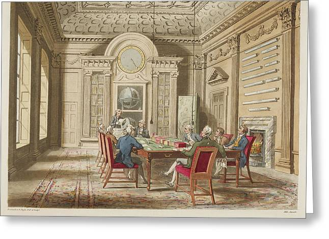Board Room Of The Admiralty Greeting Card