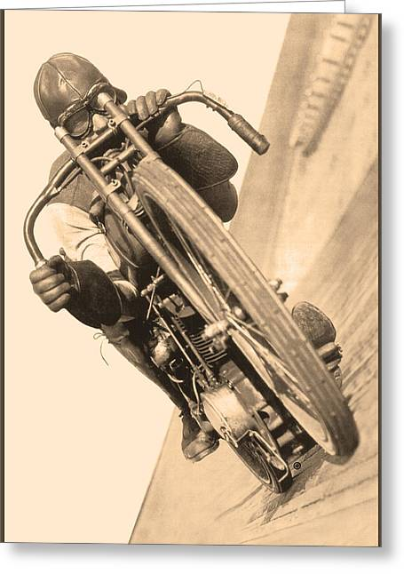 Board Track Racer Greeting Card
