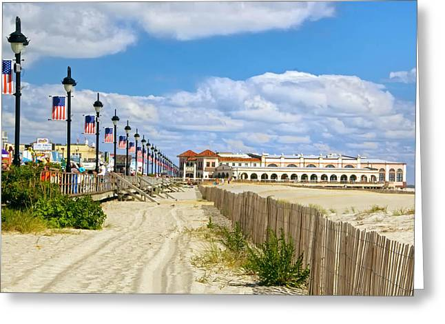 Boardwalk And Music Pier Greeting Card