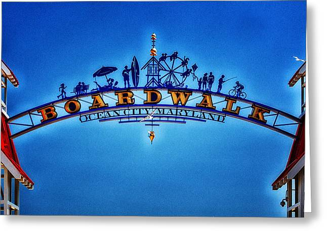 Boardwalk Arch In Ocean City Greeting Card