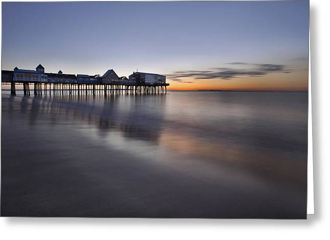 Boardwalk At Dawn Greeting Card by Eric Gendron